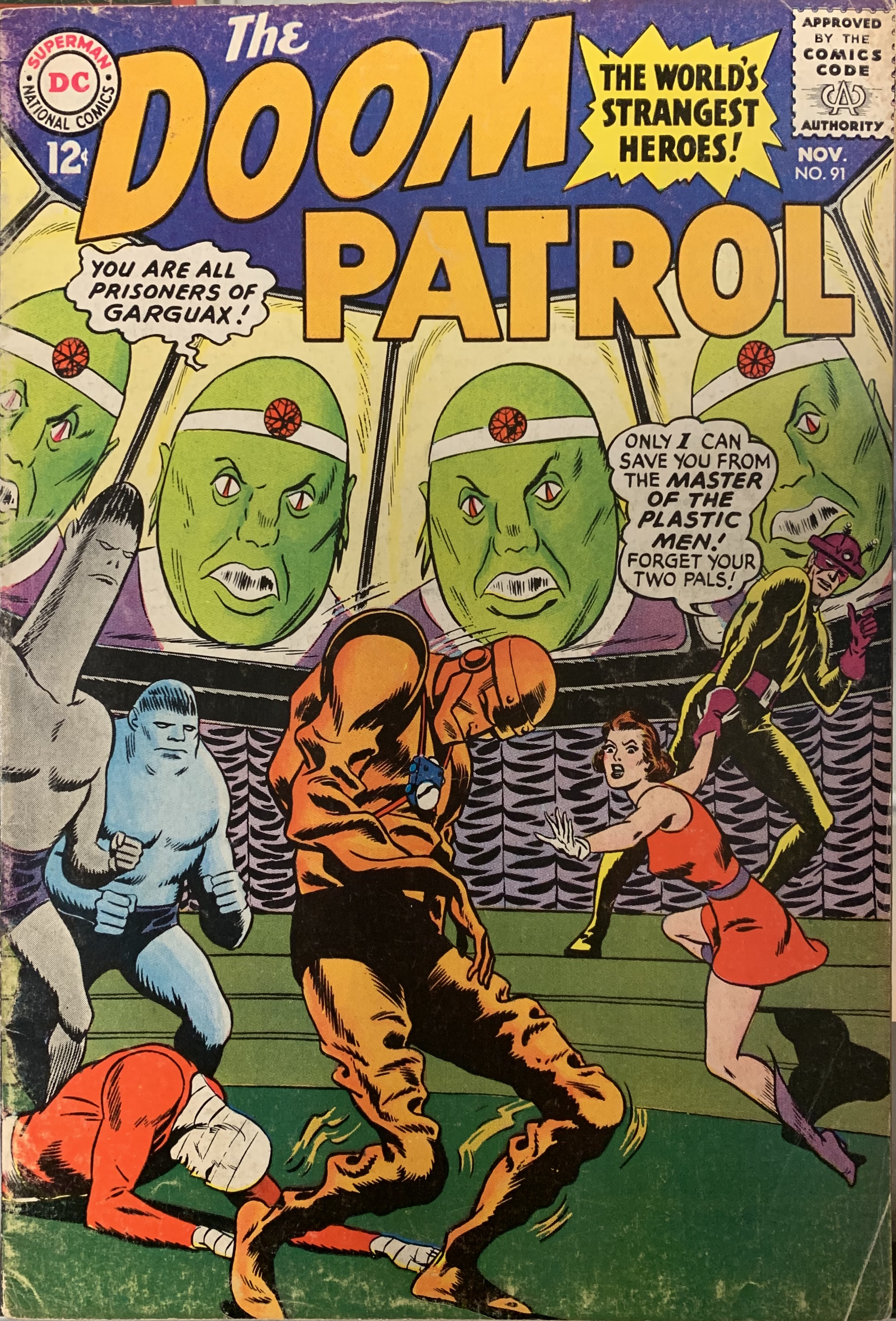 The Doom Patrol 91 New York Hard Core Comics